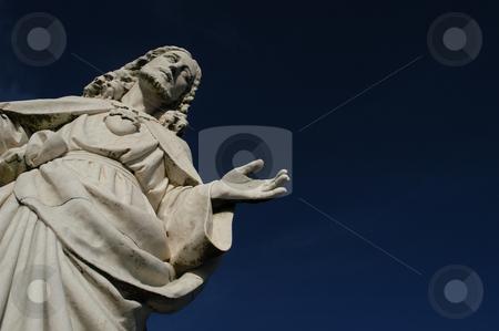 Pray stock photo, Christ statue detail by Rui Vale de Sousa