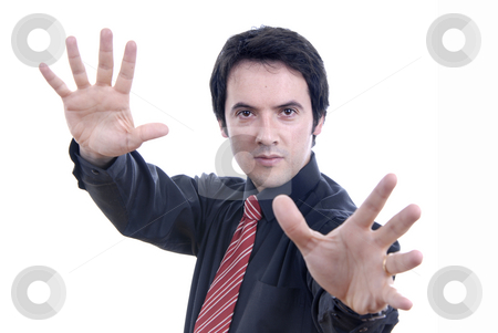 Hands stock photo, Young business man portrait on white background by Rui Vale de Sousa