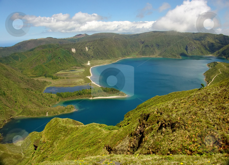 Lake stock photo, Azores lake in the mountains by Rui Vale de Sousa