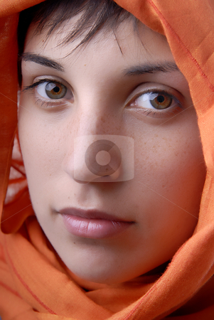 Portrait stock photo, Young woman close up portrait, studio picture by Rui Vale de Sousa