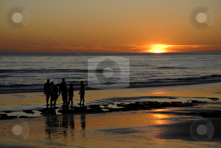 Beach stock photo, Beach at sunset at the coast of the north of portugal by Rui Vale de Sousa