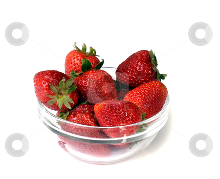 Strawberry stock photo, Beauty red strawberry isolated on white background by Rui Vale de Sousa