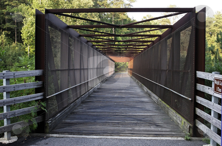 Trail Bridge stock photo, A covered bridge on the silver comet trail by Matt Baker