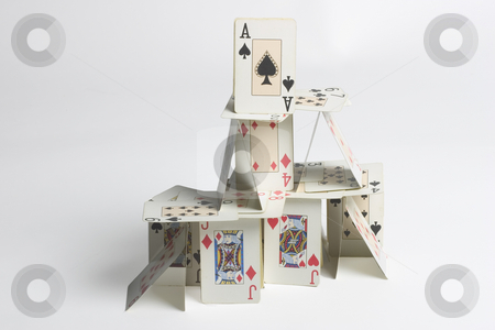 House of cards stock photo, House built from cards by Matt Baker
