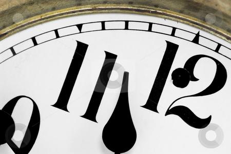 Old Mantel Clock Face stock photo, The face of a mantel clock by Matt Baker