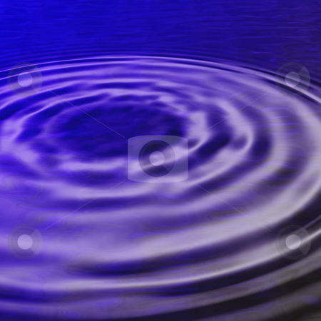 Blue ripples stock photo, Water ripples in expand in blue water by Matt Baker