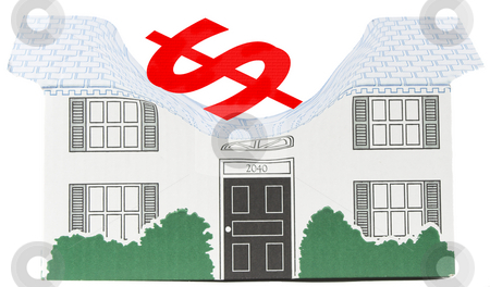 Housing Bubble House stock photo, The overpriced housing market by Matt Baker