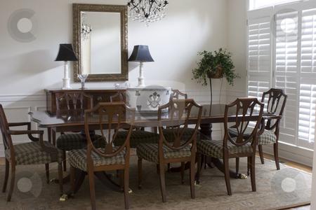 Dining Room stock photo, A full shot of a formal dining room by Matt Baker