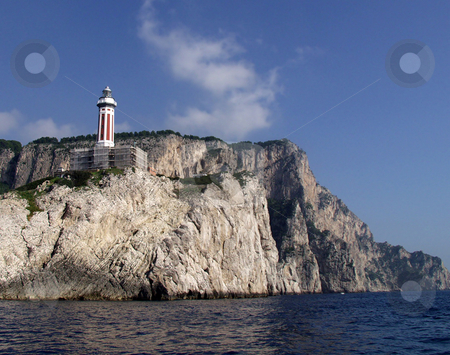 Unfinished lighthouse stock photo, Unfinshed lighthouse on a cliff by Matt Baker