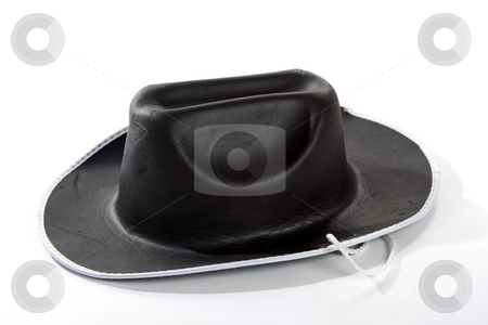 Cowboy Hat stock photo, A closeup of an isolated black cowboy hat by Matt Baker