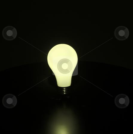 Light Bulb stock photo, A glowing yellow light bulb by Matt Baker