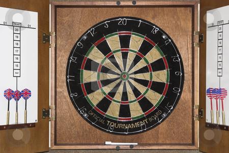 Dart Board stock photo, A dart board game by Matt Baker