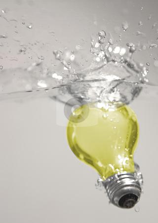 Light Bulb stock photo, Light bulb in water by Matt Baker