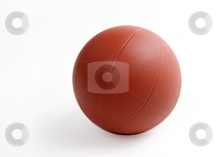Rubber basketball stock photo, An isolated rubber basketball with clipping path by Matt Baker