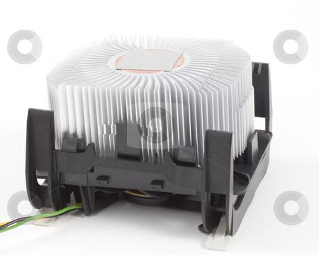 Computer heatsink stock photo, A closeup of a computer processor heatsink by Matt Baker