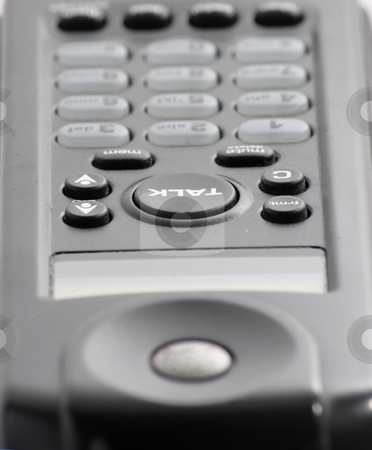Phone Macro stock photo, An extreme close up of a handset from a cordless phone by Matt Baker