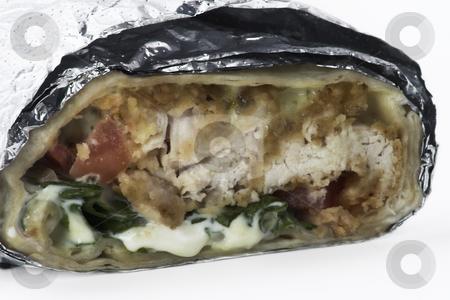 Chicken Tender Sandwich Wrap stock photo, Chicken tenders made into a sandwich wrap by Matt Baker