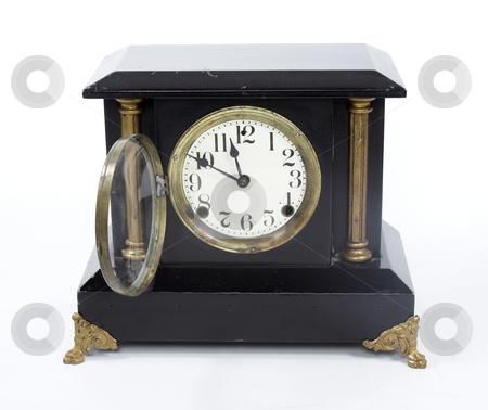 Mantel Clock stock photo, An old mantel clock by Matt Baker