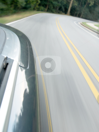Driving stock photo, Looking back at the road by Matt Baker