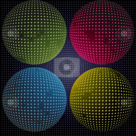 Sci-fi spheres stock photo, Multi colored spheres by Matt Baker