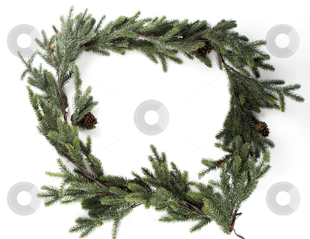 Garland Frame stock photo, A christmas border made from garland by Matt Baker