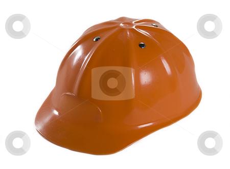 Orange Hard Hat stock photo, A closeup of an orange hard hat by Matt Baker