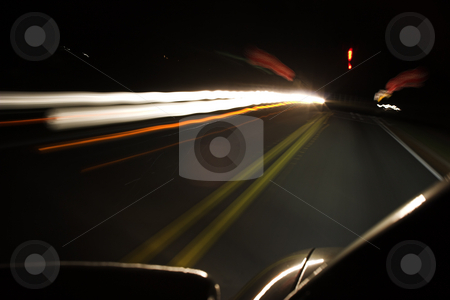 Time to stop stock photo, Pulling up to a stop sign at night by Matt Baker