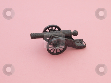 Scale model of a canon. stock photo, Scale model of a canon from a private collection. by Ian Langley