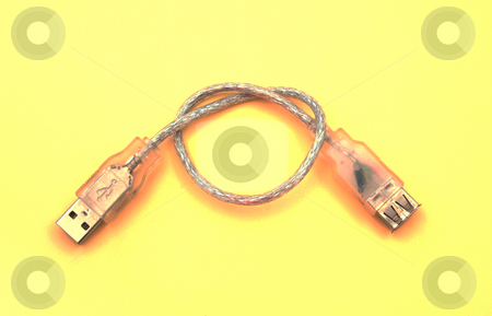 Funky usb cable.    stock photo, Funky usb cable used to conect hardware to computers by Ian Langley