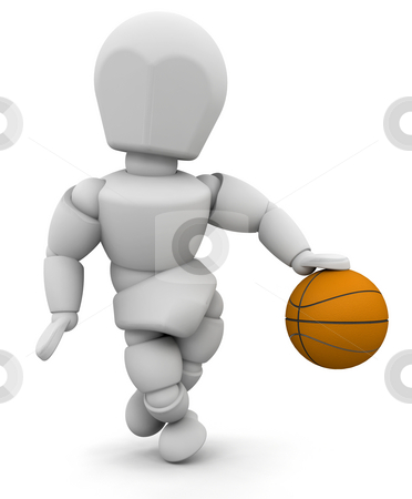 Basketball player stock photo, Someone dribbling a basketball by Kirsty Pargeter