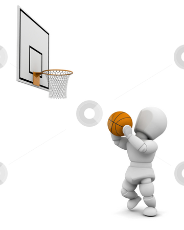 Basketball player stock photo, Someone playing basketball by Kirsty Pargeter