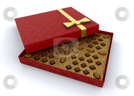 Box of chocolates stock photo, Luxury box of chocolates by Kirsty Pargeter