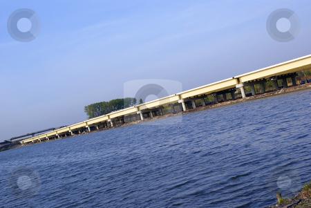 Flyover stock photo, New closed flyover built near the water by Jolanta Dabrowska