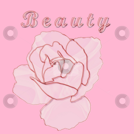 Beauty Rose stock photo, The concept of beauty illustrated by a glass rose on pink - a raster illustration. by Karen Carter