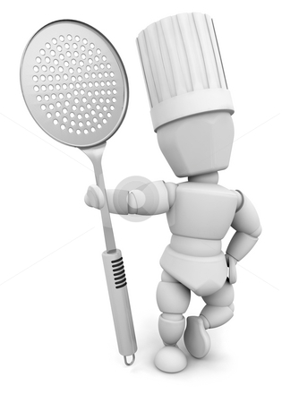 Chef stock photo, 3D render of a chef by Kirsty Pargeter