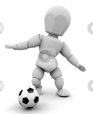 Football player stock photo, 3D render of a football player by Kirsty Pargeter