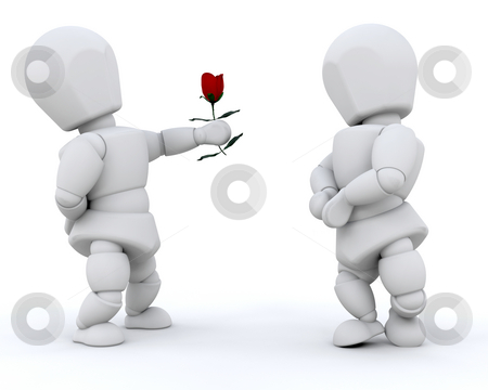 Giving a rose stock photo, A man giving a rose to his girlfriend by Kirsty Pargeter