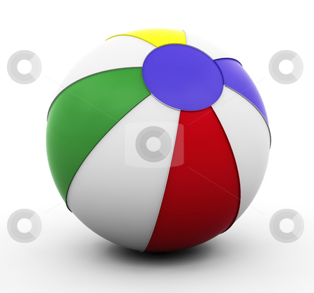 Beachball stock photo, 3D render of a beach ball by Kirsty Pargeter