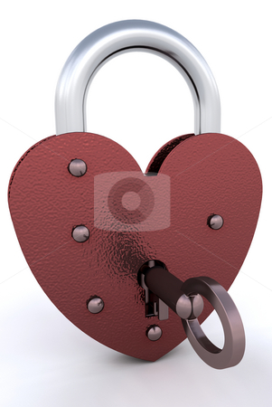 Heart padlock stock photo, Heart shaped padlock by Kirsty Pargeter