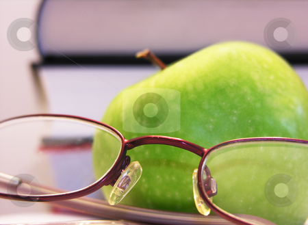 Apple with Glasses stock photo,  by Kirsty Pargeter