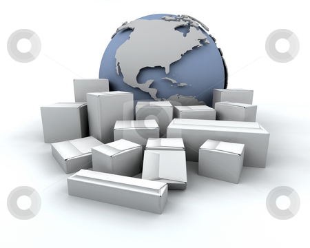 Global delivery stock photo, 3D render depicting global delivery by Kirsty Pargeter