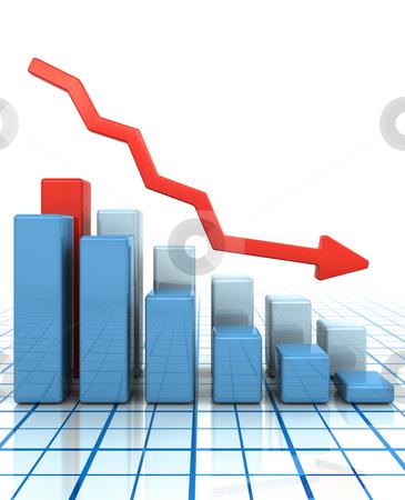 Falling profits stock photo, Bar chart showing falling profits by Kirsty Pargeter