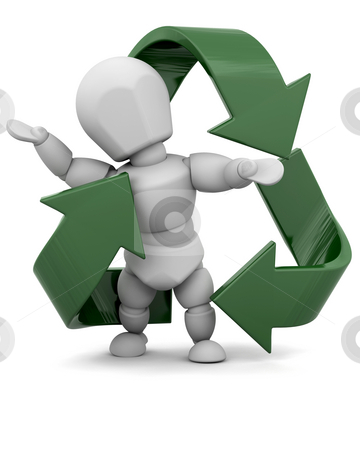 Recycle stock photo, Person with recycle symbol by Kirsty Pargeter