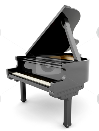 Piano stock photo, 3D render of a piano by Kirsty Pargeter