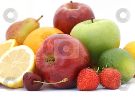 Fresh fruit stock photo, Small display of fresh fruit by Kirsty Pargeter