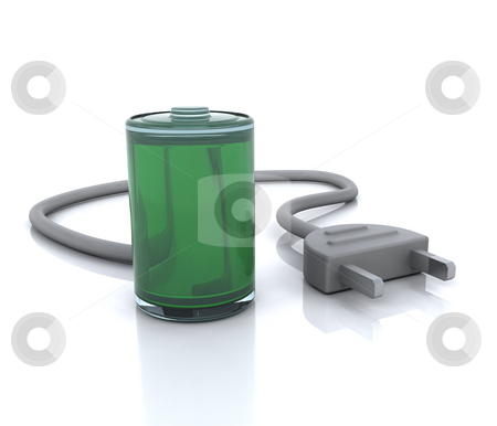Power icon stock photo, 3D computer icon for power by Kirsty Pargeter