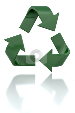 Recycling icon stock photo, 3D render of a recycling icon by Kirsty Pargeter