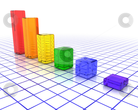Rising profits stock photo, 3D render of a chart showing rising profits by Kirsty Pargeter
