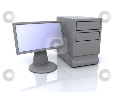 My computer icon stock photo, 3D computer icon for my computer by Kirsty Pargeter