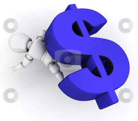 Financial pressure stock photo, 3D render depicting financial pressure by Kirsty Pargeter